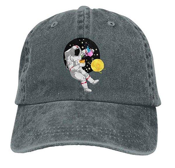 Unisexverstellbare Kappen Fernlastfahrer-Hut-Astronaut mit Mond-Cowboy-Baseball-Mützen Mehrfarben wahlweise freigestellt