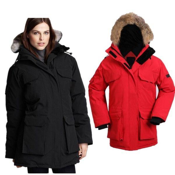 top popular Wholesale Youthful Popularity Womens Coats With Fur Hair Collar Decoration Fashion Coat Pocket Decoration Women Designer Winter Coats 2019