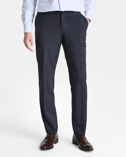 Wedding Tuexdos Men Suit Pants Formal Fashion Trim Fit Pinstripe Casual Business Straight Dress Trousers Free Shipping