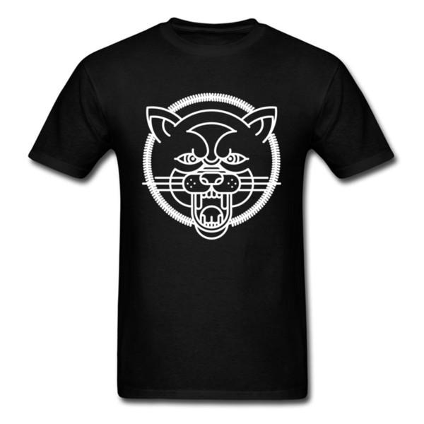 O Lobo Prevailing Mens T Camisas Em Torno Do Pescoço de Manga Curta Tops de Algodão Puro Camisas Design Moletons Drop Shipping
