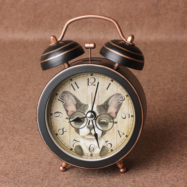 Handwerk Messing Kupfer Der Wecker klingelt Wecker große Büroschüler faul große Glocke Stimmlicht Stummuhr