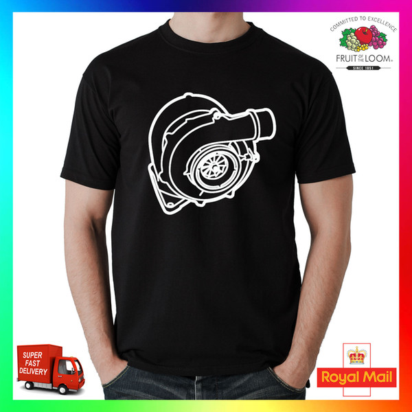 Enorme Turbo camiseta divertida camiseta camiseta impresa regalo Trackday Motorsport Diesel JDM divertido envío gratis Unisex informal