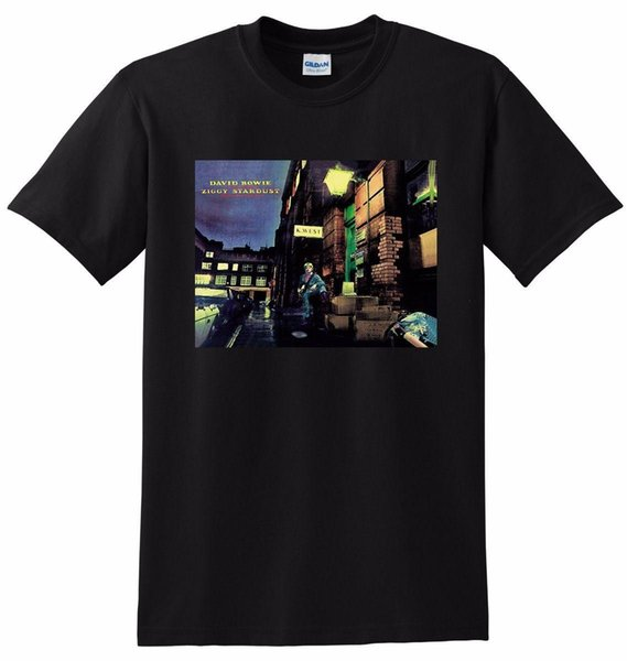 DAVID BOWIE T SHIRT the rise and fall of ziggy stardust SMALL MEDIUM LARGE or XLMens 2018 fashion Brand T Shirt O-Neck