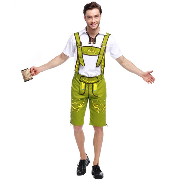 Adult Men Bavarian Costume Germany Oktoberfest Holiday Cosplay Halloween Costumes Role Play Beer Oktoberfest Costume For Guys