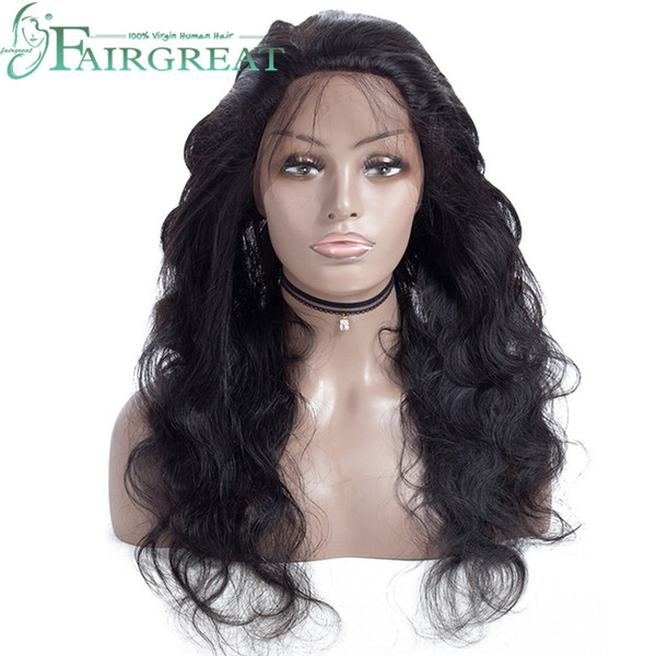 Pelucas brasileñas delanteras del pelo humano de 360Lace para las mujeres Peluca recta brasileña con el pelo del bebé Peluca frontal natural del cordón 360 de Hairline