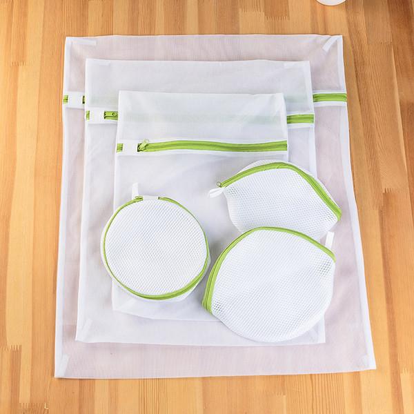 6 adet Çamaşır Net Çanta İç Sütyen Fermuar Koruyucu Ile Örgü Yıkama Çanta Kalınlaştırmak Wahing Makinesi Için 12 6yj WW
