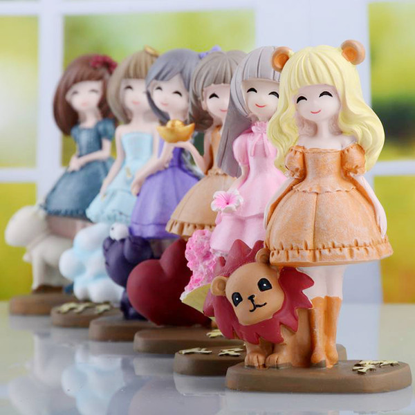 12 Zodiac Friends Friendship Cute Adult Ceremony Girl Heart Birthday  Cartoon Doll Decorative Item Resin Aries Taurus Gemini Cancer Leo Virgo  Search