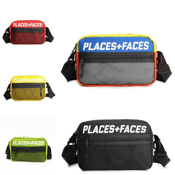 LUGARES + CARAS Fanny Pack de viaje Bolsa deportiva Patinetas Hombres Mujeres Bolso de hombro Bolsas de mensajes al aire libre Mini paquetes de teléfonos móviles Bolsa de almacenamiento