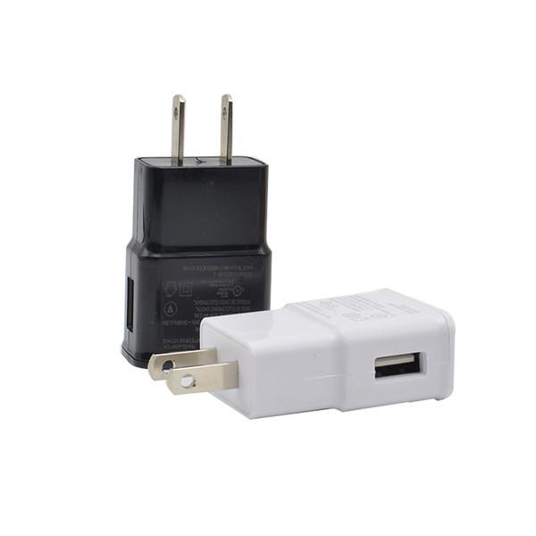 Cargador de pared USB 5V 2A 1A 71 Adaptador de cargador de viaje para el hogar AC US Plug para el teléfono inteligente universal SAMSUNG Android Teléfono IPHONE Blanco Negro