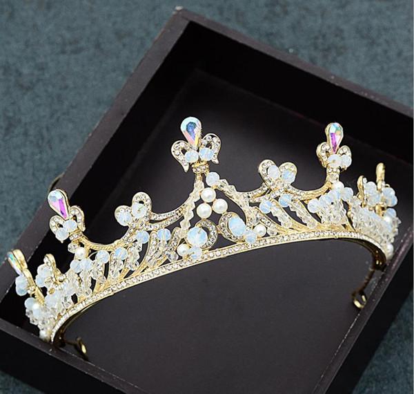 New European and American handmade crown wedding gowns, photo accessories, wedding brides, ornaments crystal headwear