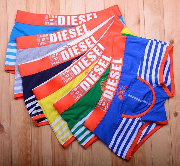best selling Fashion design Boxers Men's underwear fashion stripes printing male square underwear Men's clothing multicolor random delivery 1862