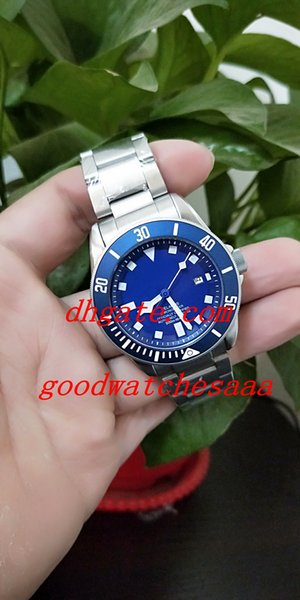 New Luxury Blue Dial Asia 2813 Automatic Men's Watch 25600TB Black Ceramic Bezel Blue Dial Stainless Steel Watch