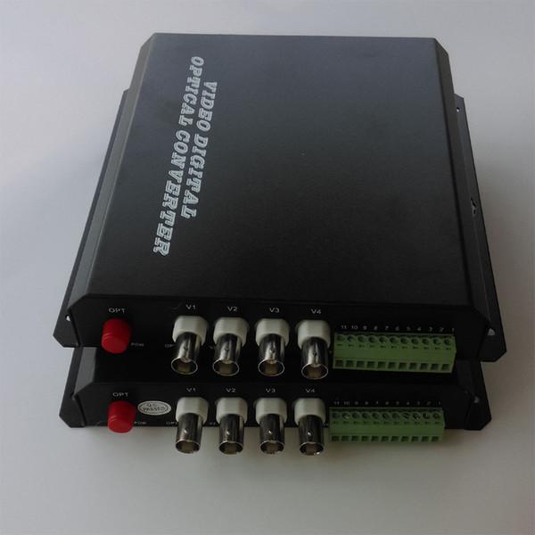 Multifunction 4 Channel Video/Audio/Data Fiber optic Optical Media Converter