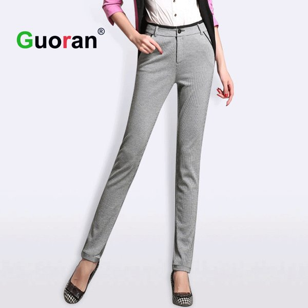 2019 {Guoran} Classical Women High Quality Work Pants 2017 Plus Size Formal  Dress Pant Business Suit Trousers Capris Ladies Pants From My01, $36.36 |  ...