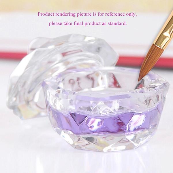 Crystal Glass Nail Art Dappen Dish Cup Acrylic Liquid Makeup Powder Nail Styling Tool Art Equipment Tools 2016 New