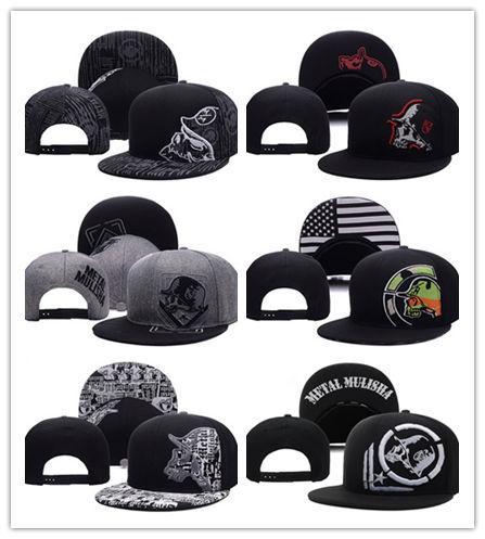 Venta al por mayor nuevo Metal Snapback Cool diseñador SnapBack gorras Mulisha Snapbacks hombres mujeres alta calidad ajustables gorras de béisbol