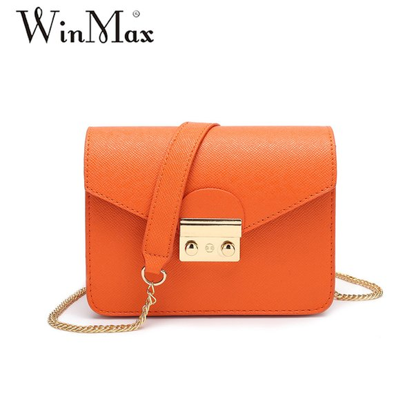 Winmax summer brand small shoulder bag for women messenger bags ladies simple handbag chain female crossbody flap bag 10 colors