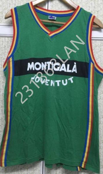 Joventut MONTIGALA баскетбол Джерси вышивка сшита на заказ любое число и имя