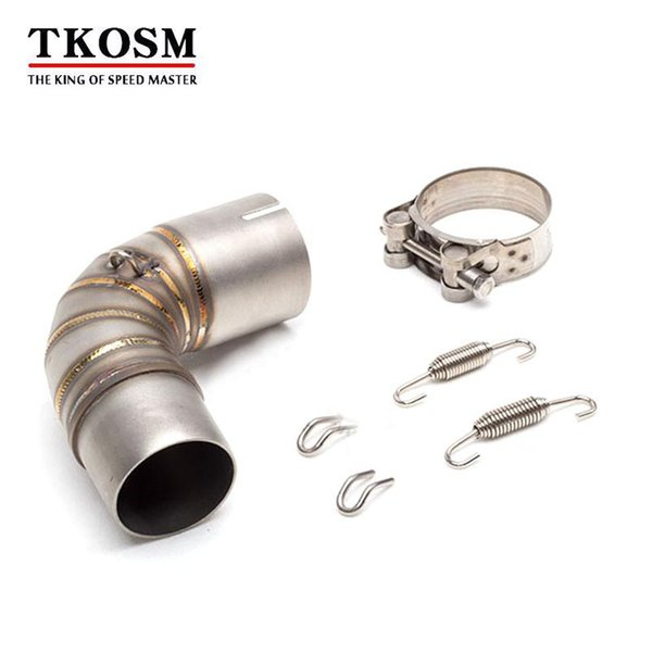 TKOSM Motorcycle Modified Exhaust Pipe CBR1000R 2010 2011 2012 Modified Exhaust Muffler Pipe Motorcycle Exhaust Middle Pipe