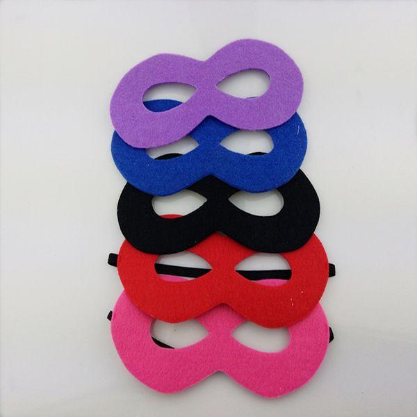 Máscaras de super-heróis não-tecido de super-heróis partido crianças máscara brinquedos com fita elástica para festa 6 cores ooa5062