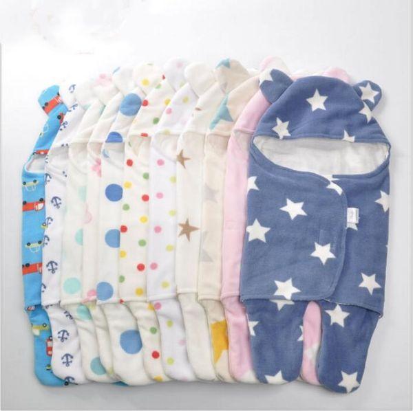 top popular Newborn Sleeping Bags Baby Blankets Swaddling Toddler Stroller Cart Swaddle Fleece Kangaroo Sleep Sack Carrier Winter Wraps Bedding B3705 2021