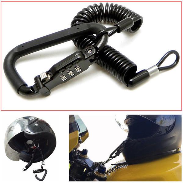Cerradura de combinación universal para la cerradura del casco de la motocicleta con caja fuerte de goma con barra en T