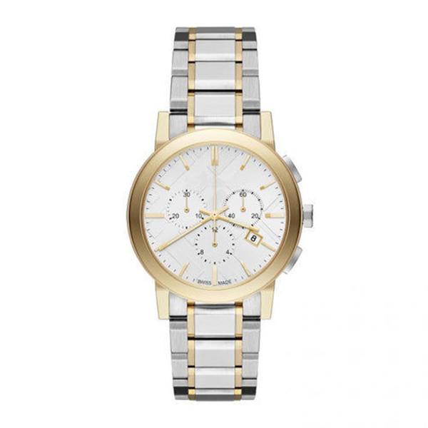 Reloj de pulsera de acero inoxidable blanco / plata cuarzo reloj unisex BU9751 38 cm con caja