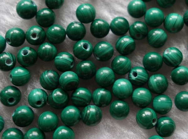 Natural Gemstone Malachite Round Loose beads with big hole size Charm Bead with Wholesale price by original factory