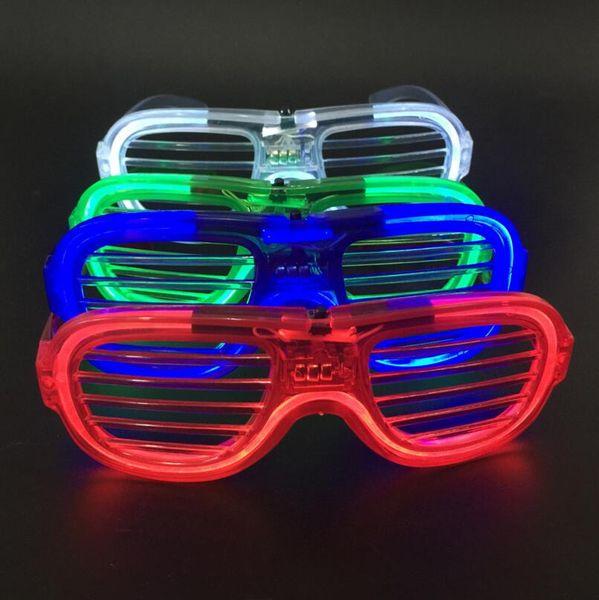 Moda LED Light Glasses Lampeggiante Tapparelle Forma Occhiali Danze Forniture per feste Decorazione Festival LX3437