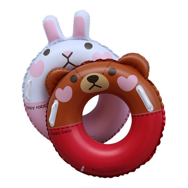 Inflatable Baby Swimming Ring Brown Bear Circle Cony Rabbit Pool Float Air Maress Water Fun Party Toys For Child Boia Gifts