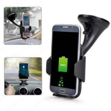 Wireless Fast Car Charger Stand Mount Holder For Samsung S8 Note 8 iPhone 8/X Wireless Charger Car Holder CCA9608 100pcs