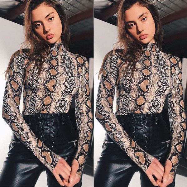 Women Clothes Long Sleeve Bodysuit Stretch Ladies Leotard Body Tops Sexy Jumpsuit New Fashion