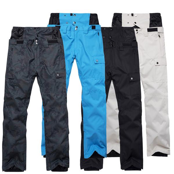 Pantalon de snowboard imperméable coupe-vent imperméable au vent pour hommes
