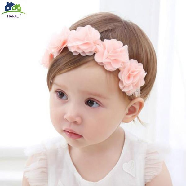 Acheter Rose Blanc Ruban Nouveau Bebe Fleur Bandeau Bandes De