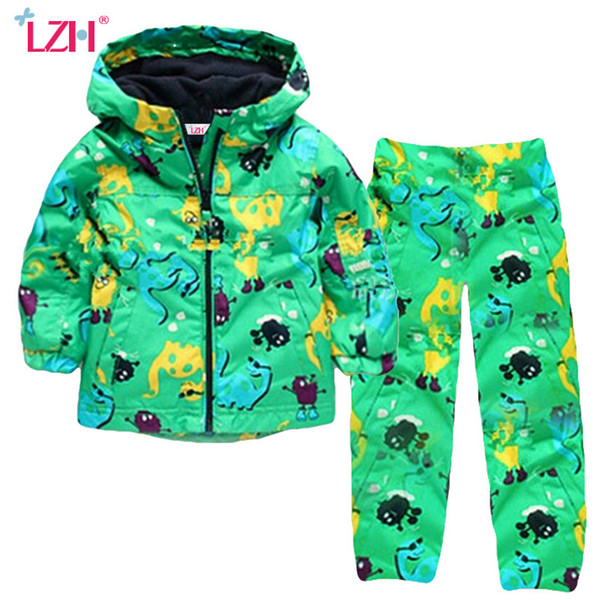 Children Clothing 2018 Autumn Winter Boys Clothes Dinosaur Jacket+Pant Outfit Kids Clothes Boy Sport Suit For Boys Clothing Sets Y1893004