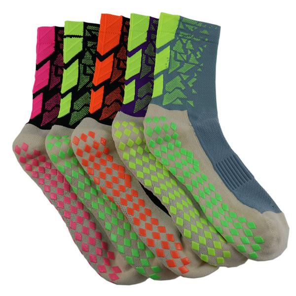 5 cores designer Mens meias homens Anti Slip Esporte Meias De Futebol De Algodão Respirável Engrossar Futebol elite meias de luxo Tocksox Trusox Estilo DHL