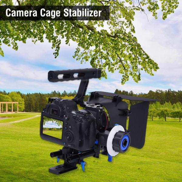 GH4 A7S DSLR Cage Stabilizer Rig mit Griff Focus Finder Matte Box für DV-Camcorder