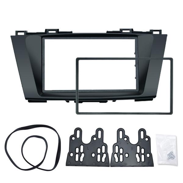 Panneau stéréo pour voiture pour Mazda 5 Premacy Nissan Lafesta High Star 2DIN Cadre de radio Fascia Réaménagement Kit de garniture pour tableau de bord # 5014