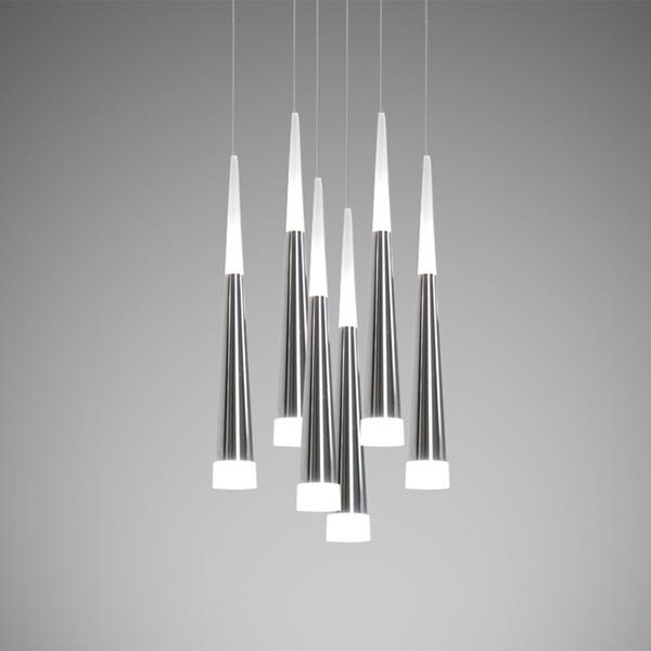 Freies verschiffen Moderne Led Pendelleuchten Metall Aluminium Chrom Hängeleuchte für Esszimmer Wohnzimmer Beleuchtung Luminia