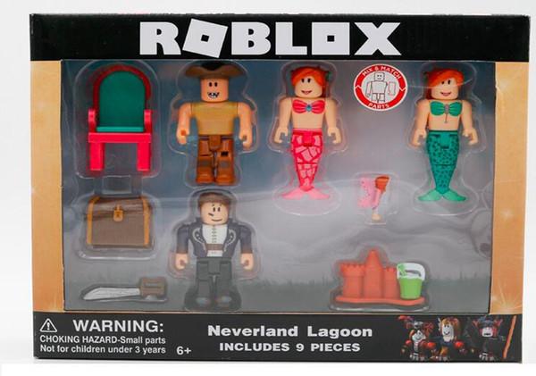 3 Styles Roblox virtual world building block doll mermaid virtual world robot doll virtual world champion
