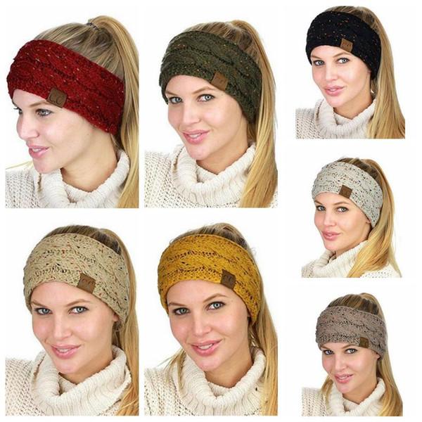 Compre es Cc Head Band Colorful Confetti Cable Knit Fuzzy Forrado ...