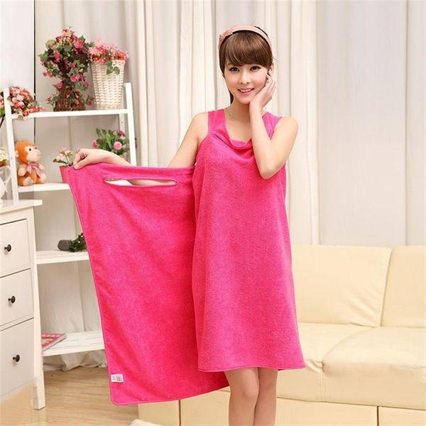 Stock Magic Toallas de baño Lady Girls SPA Toalla de ducha Body Wrap Bata de baño Albornoz Vestido de playa Wearable Magic Towel 9 color KKA1584