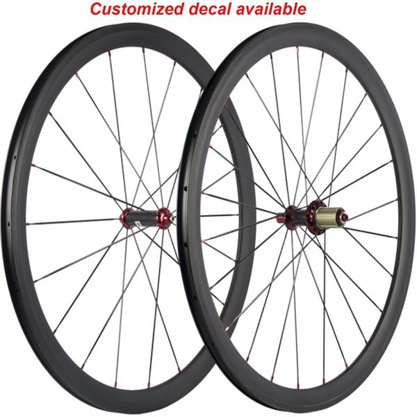 Factory 700C Disc Brake Hub Carbon Clincher Tubular Bike Wheels Bicycle road bicycle wheels clincher wheels