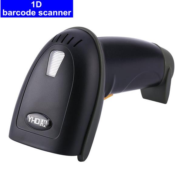 Высококачественный проводной сканер одномерный 32-битный лазерный сканер штрих-кода с автоматическим непрерывным сканированием пистолет Стент USB + подставка