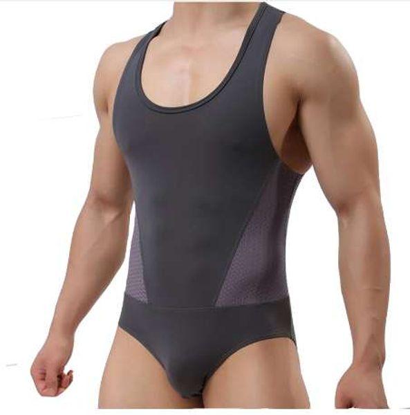 KWAN.Z bodysuit hommes Ice corset Haute élasticité Une pièce vetements shapers Slim Corrective Body sculpture Tirant sous-vêtements
