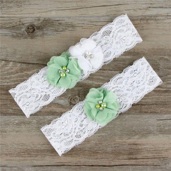 2Pcs=1Lot Stretchable Lace Bridal Wedding Garter Hen Night Party Garter Belt Wedding Flower Leg Ring Women Underwear Sexy New TH