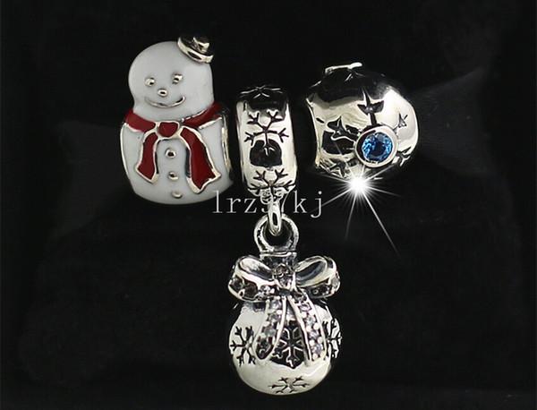 3 adet / grup DIY Gevşek Setleri 925 Ayar Gümüş Takılar ve Murano Cam Boncuk Avrupa Pandora Takı Charm Bilezikler-Sets06 Uyar