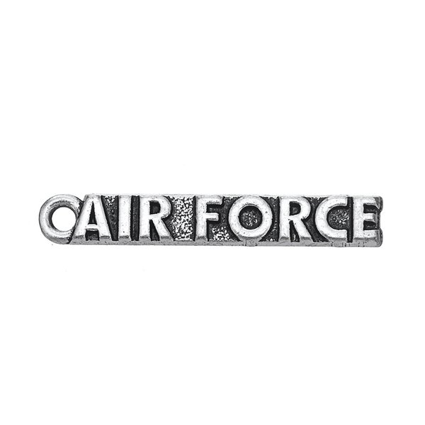 30PCS European American Style Letter Pendant Jewelry AIR FORCE Metal Alloy Charms Dangle For DIY Jewelry