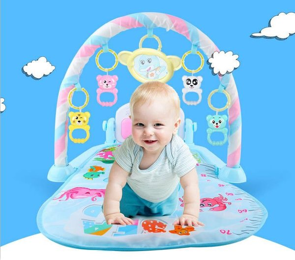 New Multifunction Soft Baby Play Mat Activity Piano Pedal Fitness Frame Music Bed Bell Pay Gym Toy Floor Crawl Blanket Carpet
