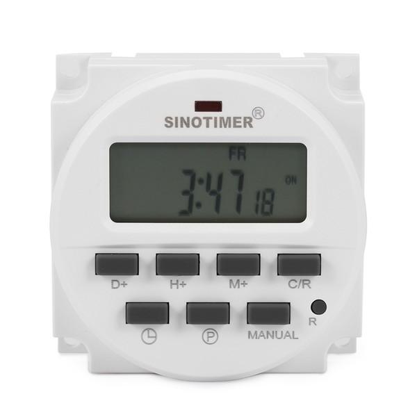 Interruptor de tiempo del microordenador Temporizador programable del control de potencia digital Cinco funciones Pantalla LCD 220 - 240V CA 50 / 60Hz